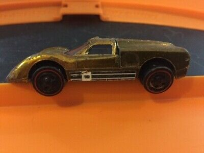 Vintage Hot Wheels redline 1968 Ford J-Car original 16 Gold Ford vs Ferrari Mile