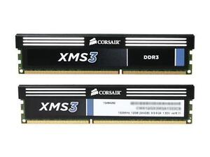 CORSAIR XMS3 8GB (2 x 4GB) DDR3 1333 CL9 240-Pin SDRAM