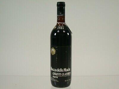 Wein Rotwein Red Wine 1981 Birthday Rocca Delle Macie Chianti Riserva 524/0