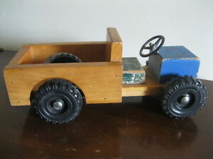 "VINTAGE  ""STOCK""  WOODEN  TOY  TRUCK"