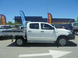 2012 Toyota Hilux KUN26R MY12 SR Double Cab White 4 Speed Automatic Utility Welshpool Canning Area Preview