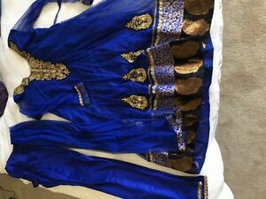 Royal blue churidar style Indian suit