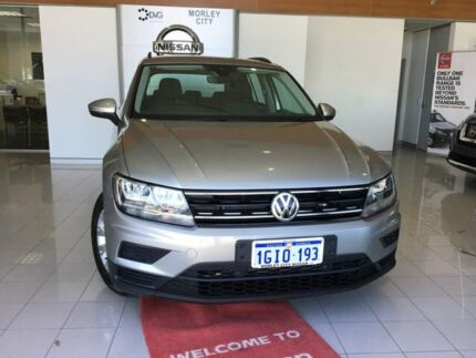 2017 Volkswagen Tiguan 5N MY18 110TSI DSG 2WD Trendline Silver 6 Speed Sports Automatic Dual Clutch Morley Bayswater Area Preview