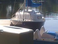 Siren 17 saiboat with trailer and new outboard!
