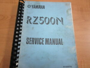 1984 1985 YAMAHA RZ500 SERVICE MANUAL