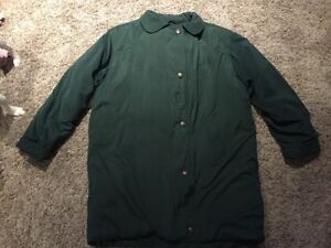 Green Size 14 winter coat with hood