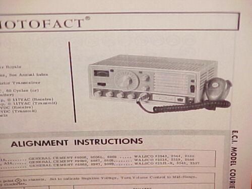 1967 E.C.I. ECI CB RADIO SERVICE SHOP MANUAL MODEL COURIER ROYALE