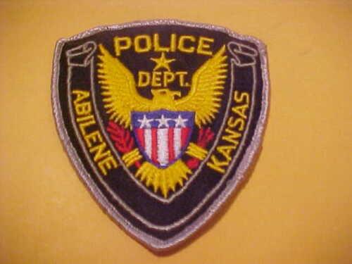 ABILENE KANSAS POLICE PATCH SHOULDER SIZE USED