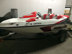 2007 - ONLY 35 hours Sea Doo Speedster boat - 215HP Supercharged