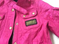 Barbour International Bright Pink Quilted Coat Age 6/7