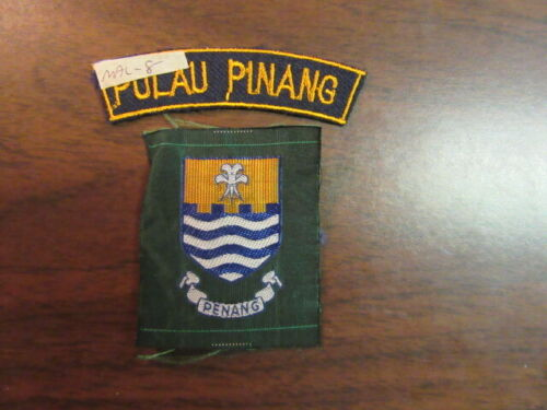 Malaysia Boy Scout 2 different Patches  eb25