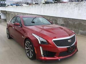 2016 Cadillac CTS-V Sedan in red obsession tintcoat RECARO auto