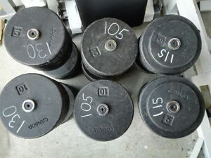 105lbs, 115lbs, 130lbs - York Prostyle Commercial Dumbbells