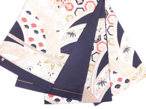 HIGH CLASS ANTIQUE FUKURO OBI FOR JAPANESE KIMONO, BEAUTIFUL CRAFT MATERIAL NICE