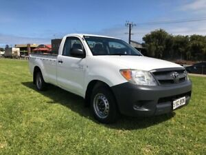 2005 Toyota Hilux GGN15R MY05 SR White 5 Speed Automatic Utility Somerton Park Holdfast Bay Preview