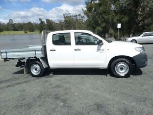2011 Toyota Hilux TGN16R MY11 Upgrade Workmate White 4 Speed Automatic Dual Cab Pick-up Belconnen Belconnen Area Preview
