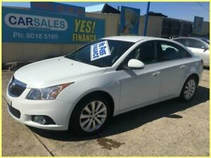 2013 Holden Cruze JH MY13 CDX White 6 Speed Automatic Sedan