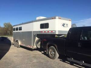 "2004 4 Star 3 Horse Trailer with weekender- 7'6"" wide and tall"
