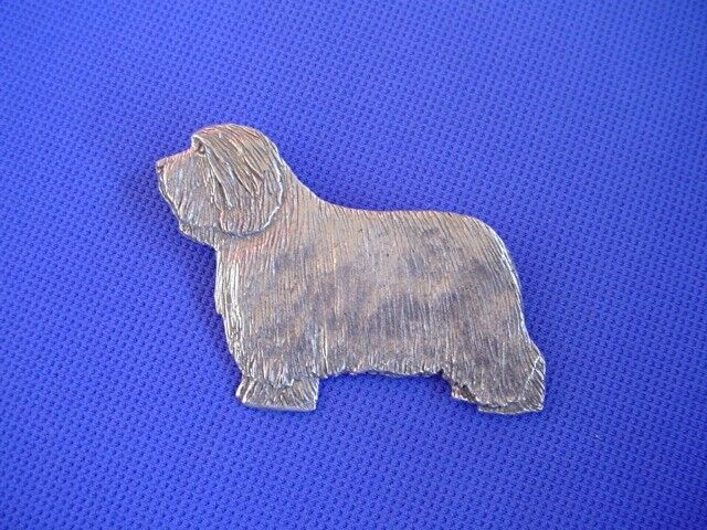Bearded Collie pin STANDING #74A Pewter Herding Dog Jewelry by Cindy A. Conter