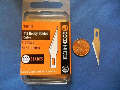 Hobby Blade - #11 BLADES craft hobby X-acto Fit BULK 100 No11 TE01-111 USA MADE