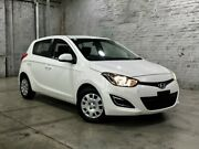 2014 Hyundai i20 PB MY14 Active White 4 Speed Automatic Hatchback Mile End South West Torrens Area Preview
