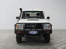 2010 Toyota Landcruiser VDJ79R 09 Upgrade Workmate (4x4) White 5 Speed Manual Cab Chassis Jandakot Cockburn Area Preview