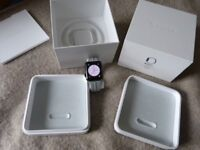 APPLE WATCH STAINLESS STEEL BLACK SERIES 2 42MM - MINT - APPLECARE PLUS+ 23 DEC 2018 - BOXED