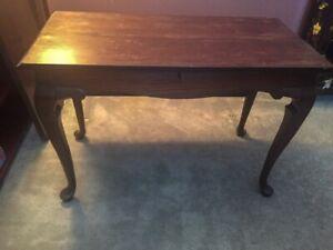 Table antique avec 2 panneaux