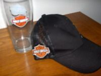 M G D / Harley Davidson Glass and Cap