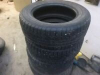 4 used 215 60 16  all weather tires