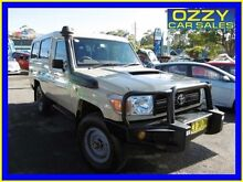 2012 Toyota Landcruiser VDJ79R MY12 Update Workmate (4x4) Beige 5 Speed Manual Dual Cab Chassis Penrith Penrith Area Preview