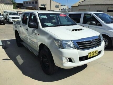 2015 Toyota Hilux KUN26R MY14 SR (4x4) White 5 Speed Automatic Dual Cab Pick-up Peakhurst Hurstville Area Preview