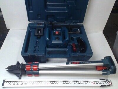 Bosch Professional Grl 240 Hv Rotary Self Leveling Laser Wtripod Leveling Rod