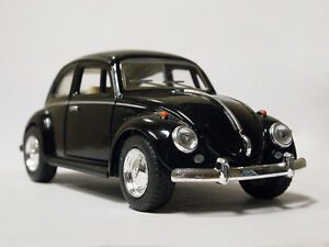 New 5 Kinsmart 1967 Vw Volkswagen Clical Beetle Cast Toy Car 1 32 Black