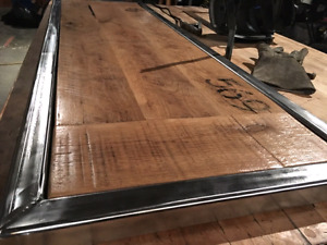 Wood and Steel Coffee Table or Bench - Handmade *NEW*