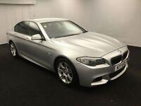 BMW 5 SERIES 2.0 520D M SPORT 4d AUTO 181 BHP (silver) 2011