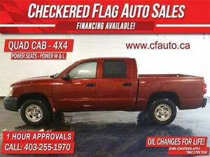 2007 Dodge Dakota QUAD CAB 4X4-POWER SEAT-148000 KM