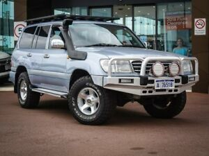 2002 Toyota Landcruiser FZJ105R GXL Blue 4 Speed Automatic Wagon
