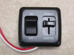 dimmer switch 12 volt on off light rv motor home camper travel trailer marine bk. Black Bedroom Furniture Sets. Home Design Ideas