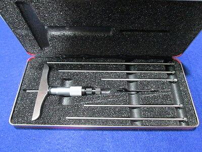 Starrett 445bz-6rl 0-6 Depth Micrometer New