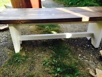 New solid handmade bench