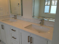 "Stunning White Quartz COUNTERTOP 22.5"" x 72.5"""