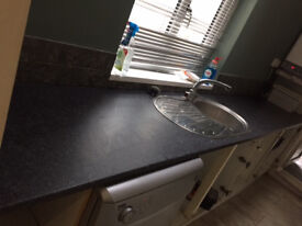 kitchen worktop and sink