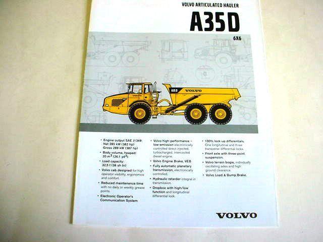 Volvo A35D 6x6 Articulated Truck Brochure