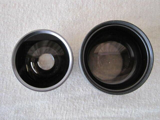 Genuine Sony 30mm camcorder lenses Wide x 0.6 and Telephoto x 2.0