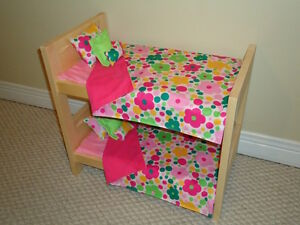 "Solid Wood Doll Beds and other furniture for 18"" dolls"