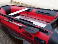 Brand New in box 3.8m inflatable boat dinghy tender rib aluminium deck v keel