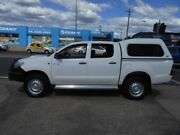 2014 Toyota Hilux KUN26R MY14 SR Double Cab White 5 Speed Manual Utility Fyshwick South Canberra Preview