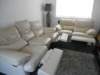 3 seater and two seater leeather sofas recliner