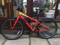 HOY Bonaly 24 Kids lightweight mountain bike - Red/yellow. Excellent condition.